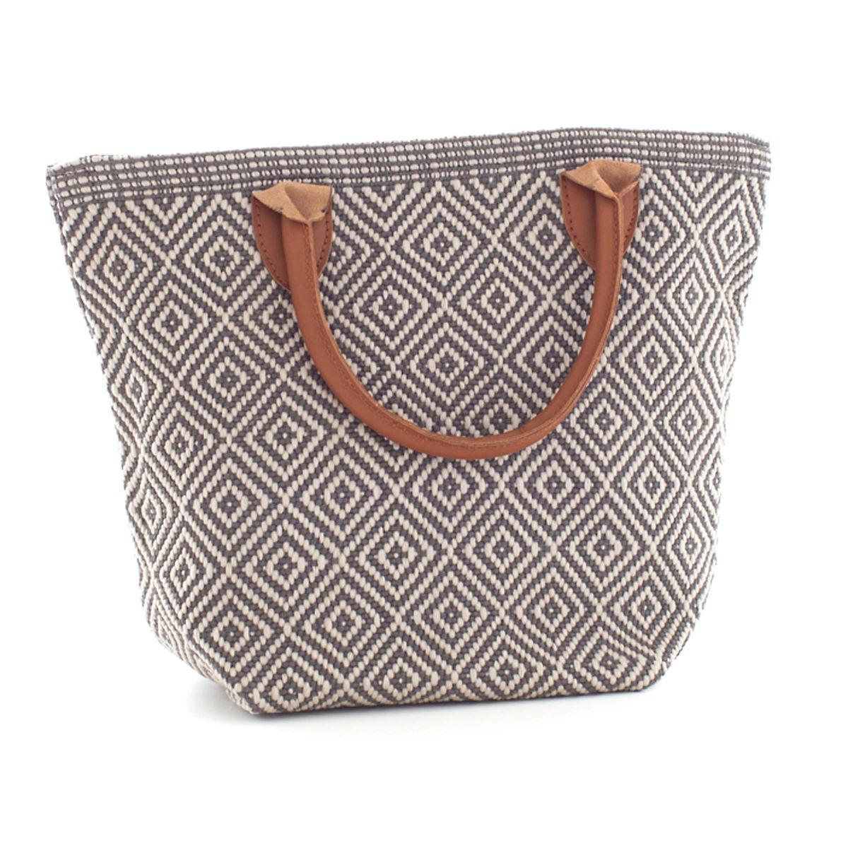 Fresh American Le Tote Graphite/Platinum  Tote Bag Petit