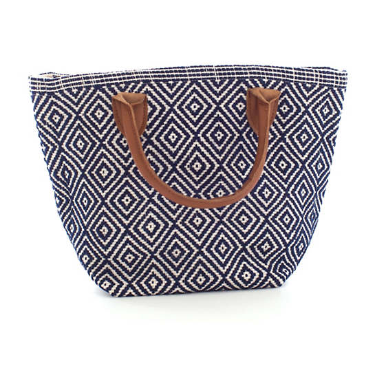Le Tote Navy/Ivory Tote Bag Petit