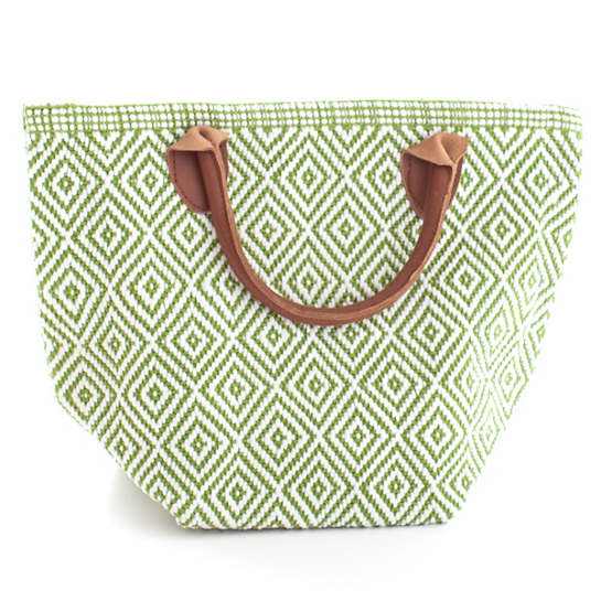 Fresh American Le Tote Sprout/White Tote Bag Petit
