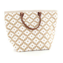 Fresh American Le Tote Wheat/White Tote Bag Grand