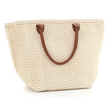 Fresh American Le Tote Wheat/White Tote Bag Moyen