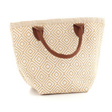 Fresh American Le Tote Wheat/White Tote Bag Petit