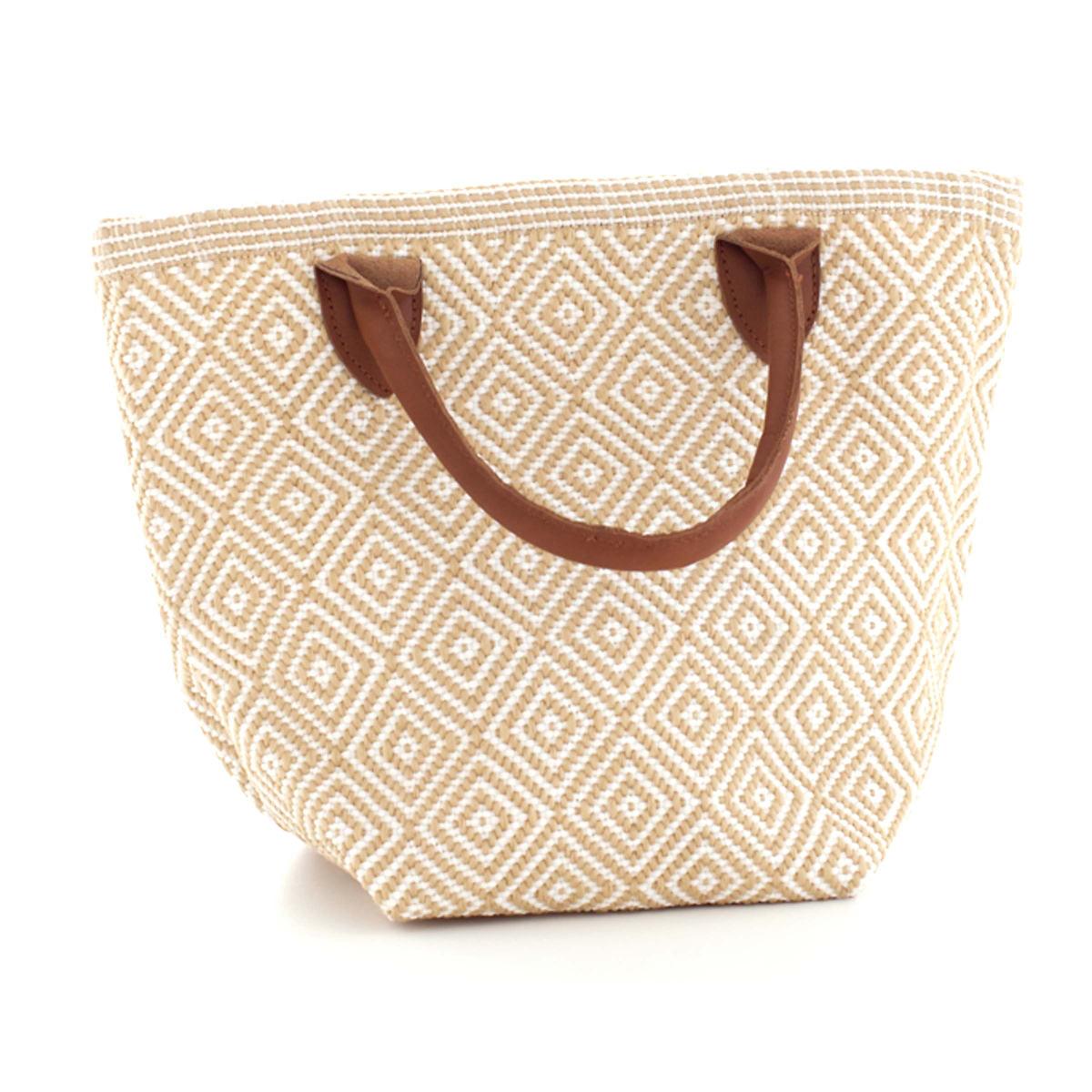 Fresh American Le Tote Wheat/White Tote Bag Petit