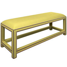 Estate Linen Citrus Lexington Bench