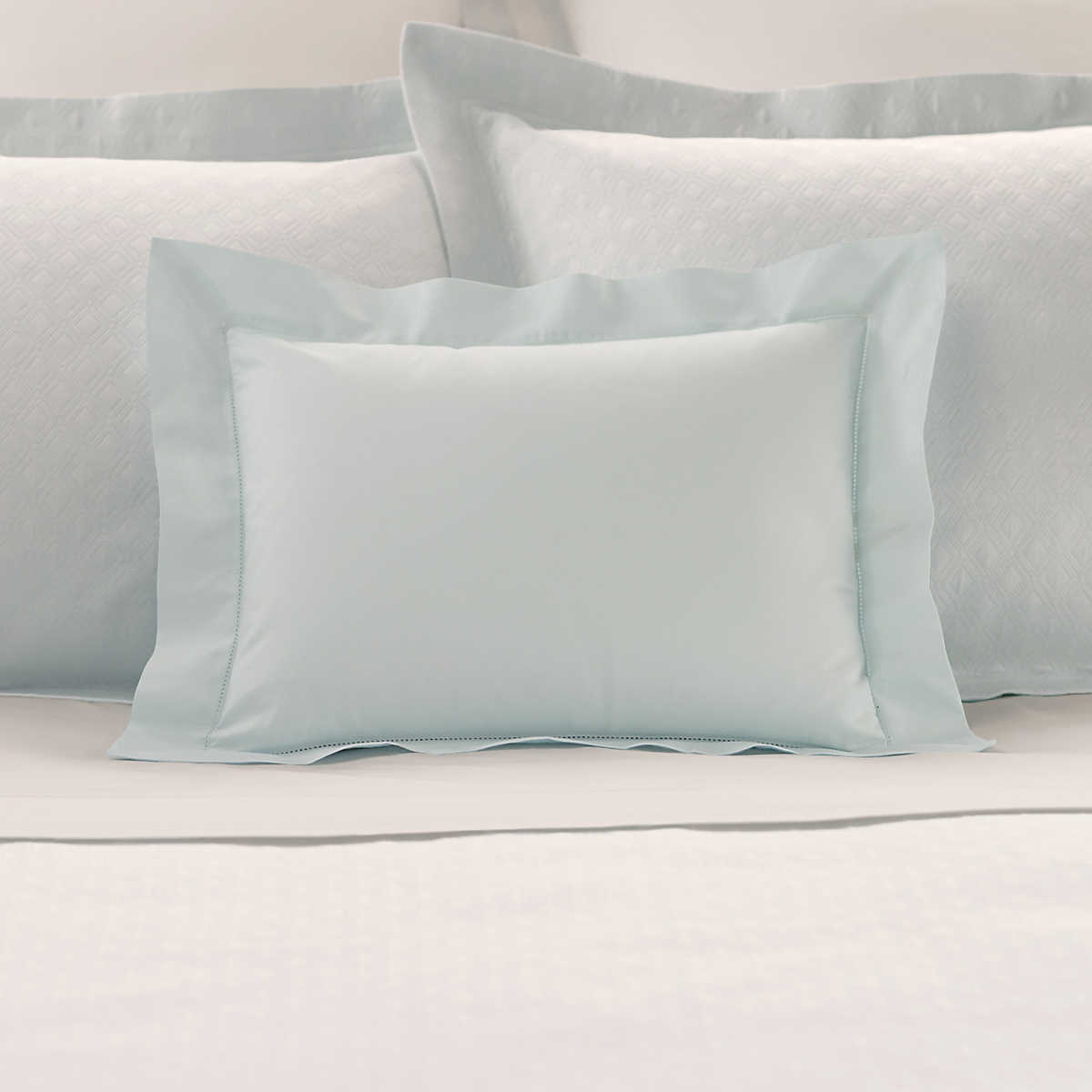 Blue decorative bed pillows - Lia Pearl Blue Decorative Pillow
