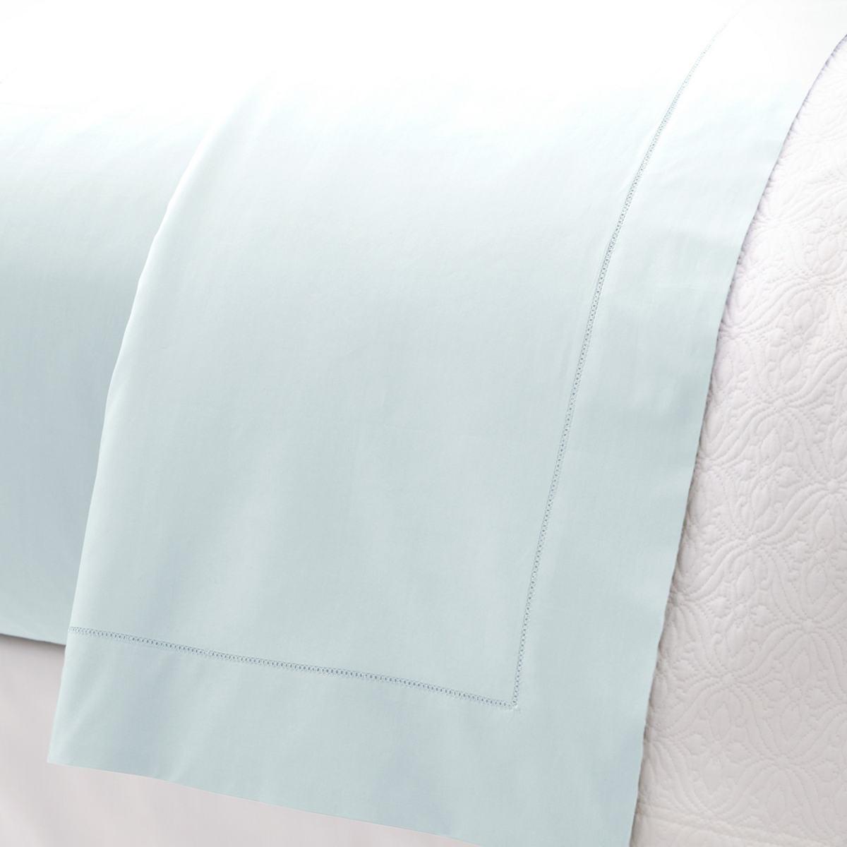 Lia Pearl Blue Flat Sheet