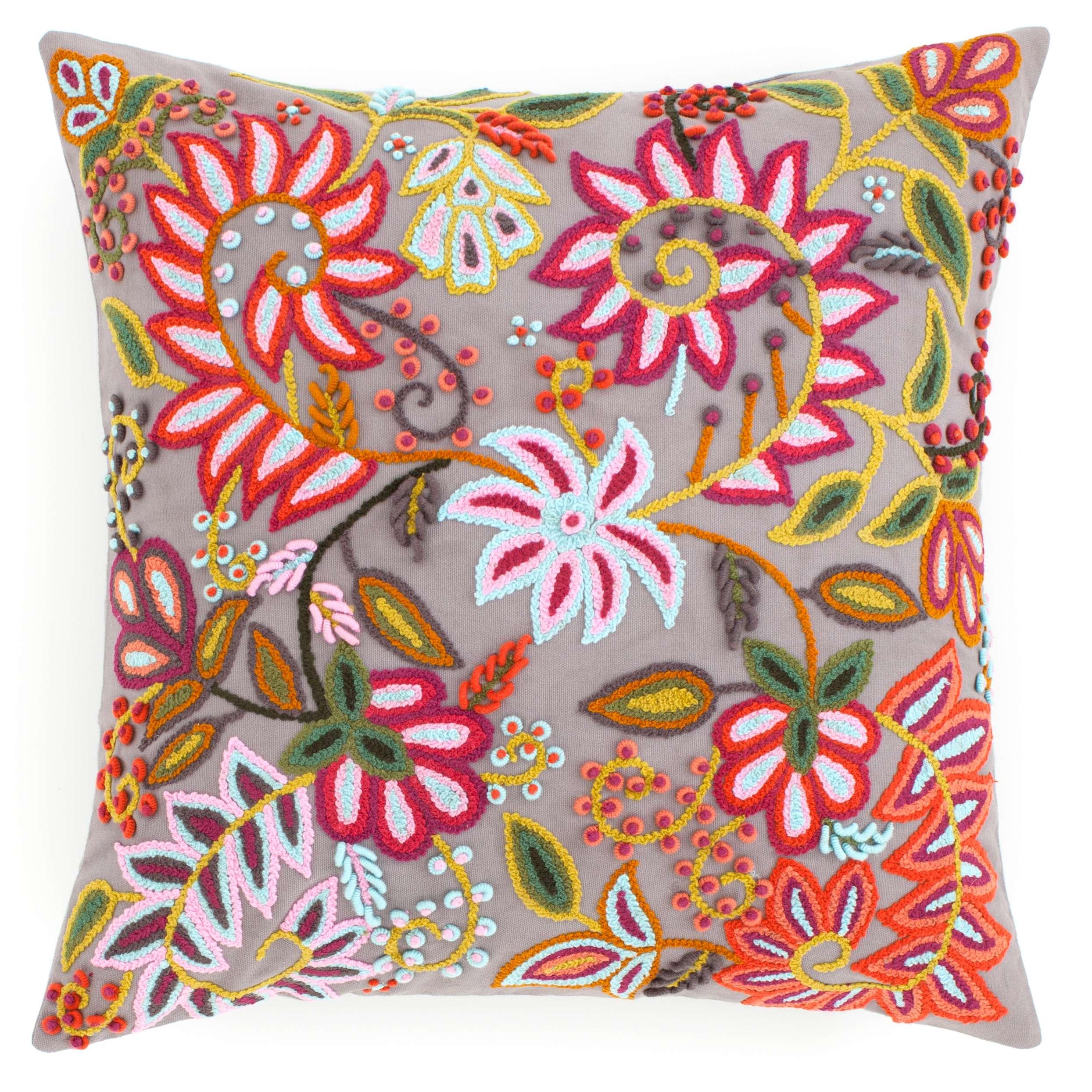 Decorative Pillows Outlet : Lima Grey Decorative Pillow The Outlet