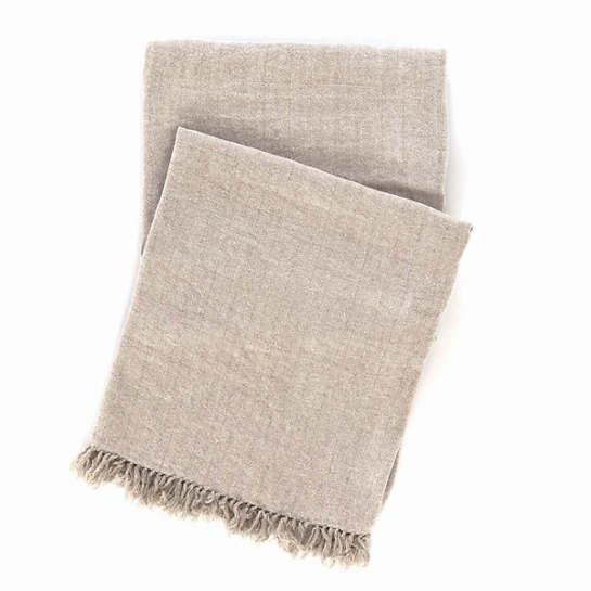 Linen Chenille Natural Throw