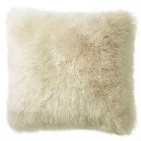 Linen Longwool Combed Sheepskin Decorative Pillow