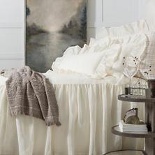 Linen Mesh Ivory Bedspread