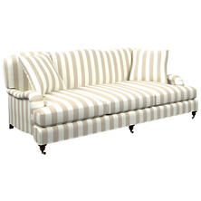 Alex Pearl Grey Litchfield 3 Seater Sofa