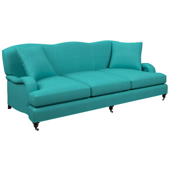Estate Linen Turquoise Litchfield 3 Seater Sofa Furniture