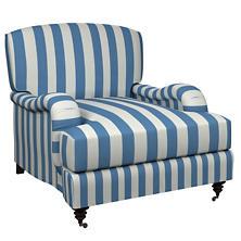 Alex French Blue Litchfield Chair