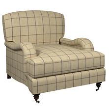 Chatham Tattersall Navy/Brown Litchfield Chair