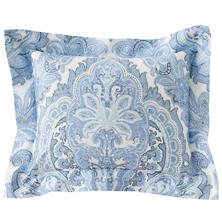 Lorenzo Paisley Delphinium/Zinc Decorative Pillow