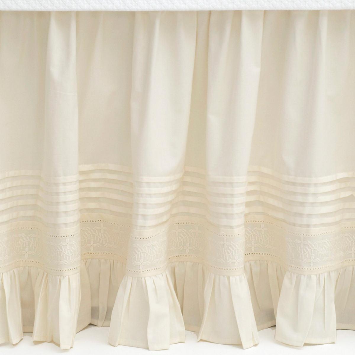 Louisa Ivory Bed Skirt