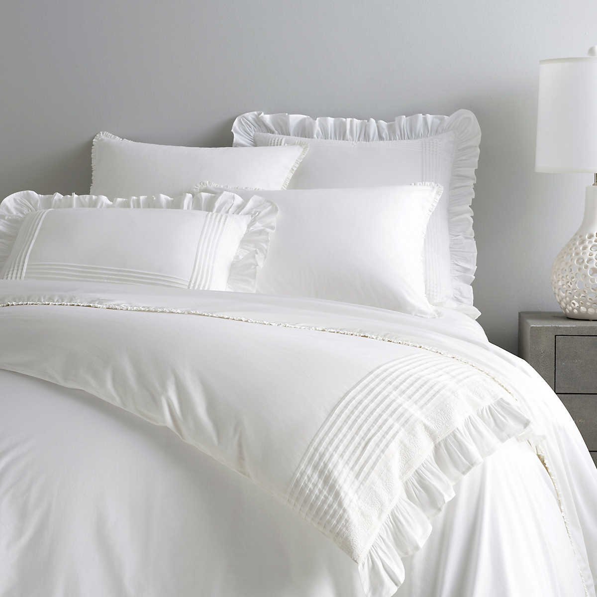 Louisa White Duvet Cover Pine Cone Hill