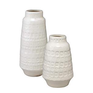 Lucia White Vase/Set of 2