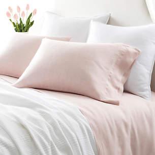 Lush Linen Slipper Pink Sheet Set