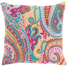 Lyric Paisley Embroidered Decorative Pillow