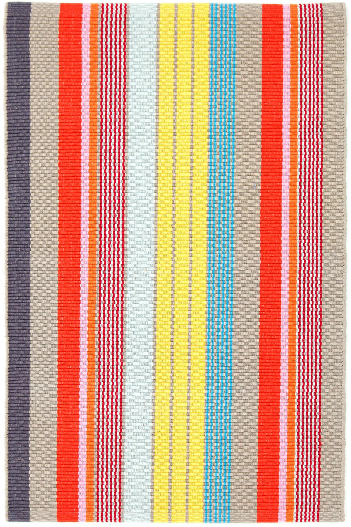 Lyric Stripe Woven Cotton Rug