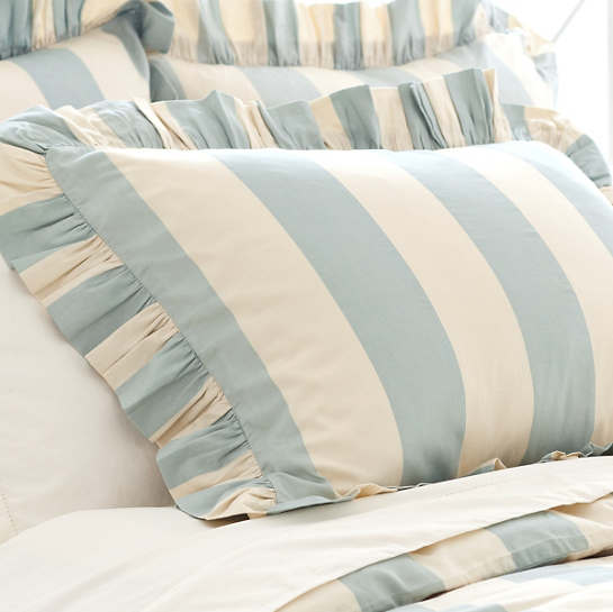Madeline Blue Stripe Unquilted Sham