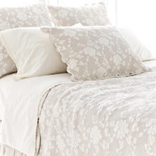 Petite trellis ivory matelass 233 coverlet pine cone hill