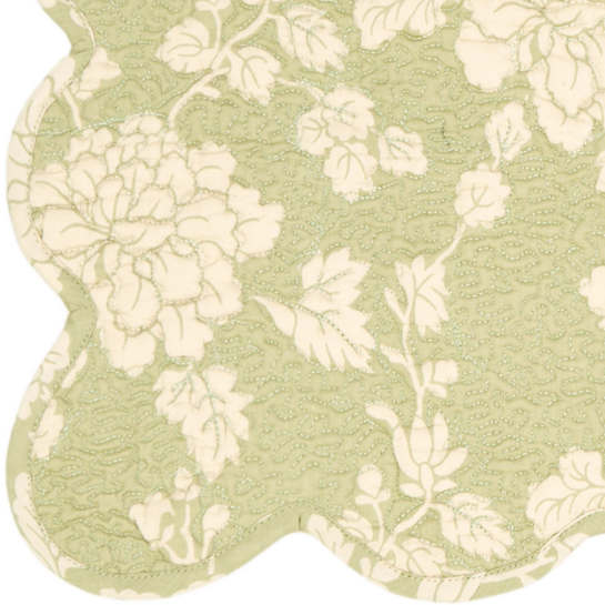 Madeline Sage Quilted Placemats/ set of 4