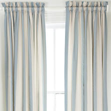 Madeline Stripe Blue Window Panel