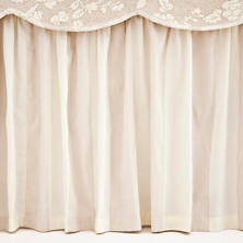 Madeline Stripe Cafe Au Lait  Bed Skirt