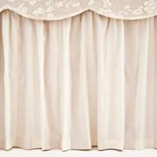 Madeline Stripe Cafe Au Lait  Bed Skirt