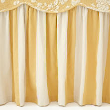 Madeline Stripe Gold  Bed Skirt