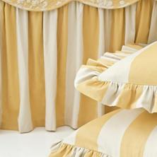 Madeline Stripe Gold  Unquilted Sham