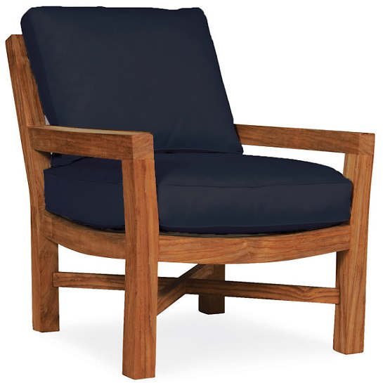 Mahkeenac Outdoor Chair Navy Canvas