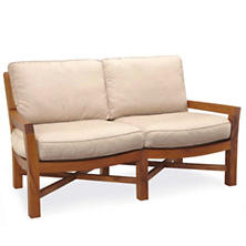 Mahkeenac Outdoor Loveseat Natural Canvas