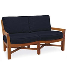 Mahkeenac Outdoor Loveseat Navy Canvas