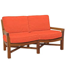 Mahkeenac Outdoor Loveseat Tangerine Canvas