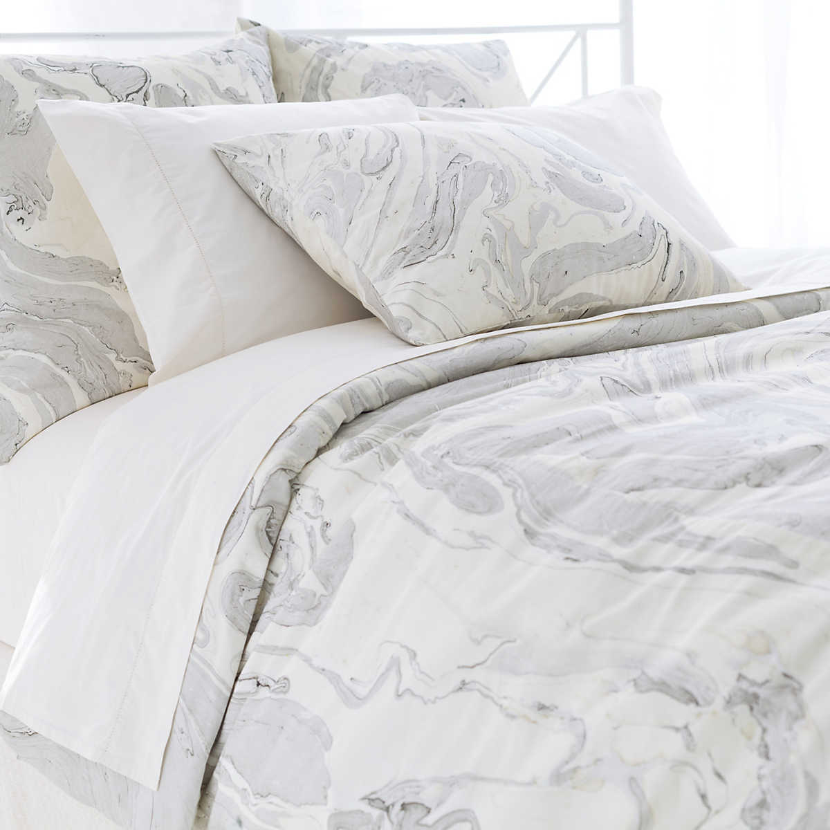 marble natural duvet cover  the outlet -
