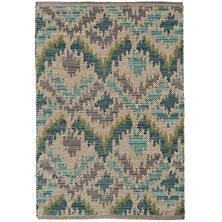 Medina Green Jacquard Woven Wool Rug