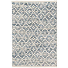 Melange Diamond Blue Woven Cotton Rug