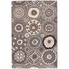 Merry Go Round Neutral Micro Hooked Wool Rug