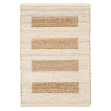 Milo Ivory Woven Jute/Cotton Rug