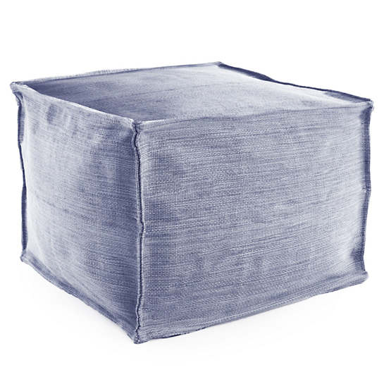 Mingled Denim Indoor/Outdoor Pouf