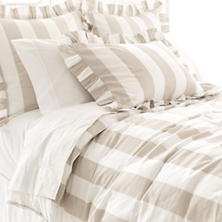 Monique Stripe Platinum Duvet Cover