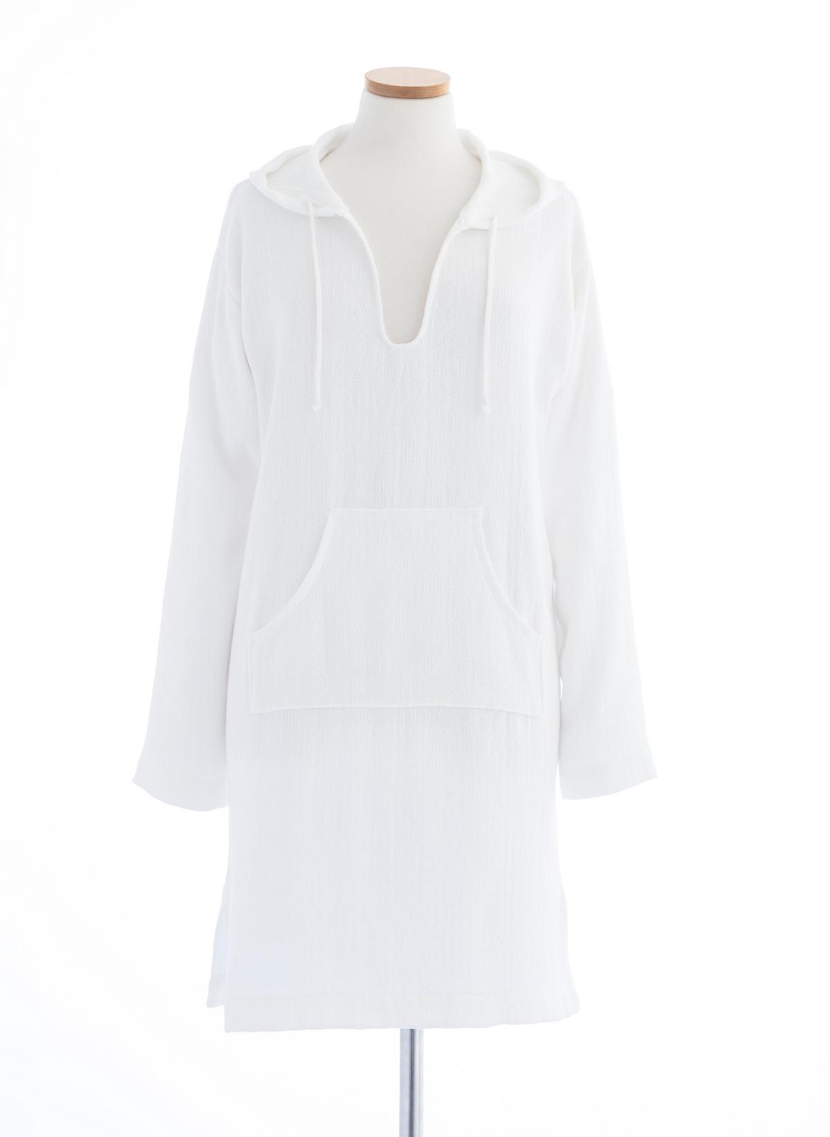 Montauk White Hooded Tunic