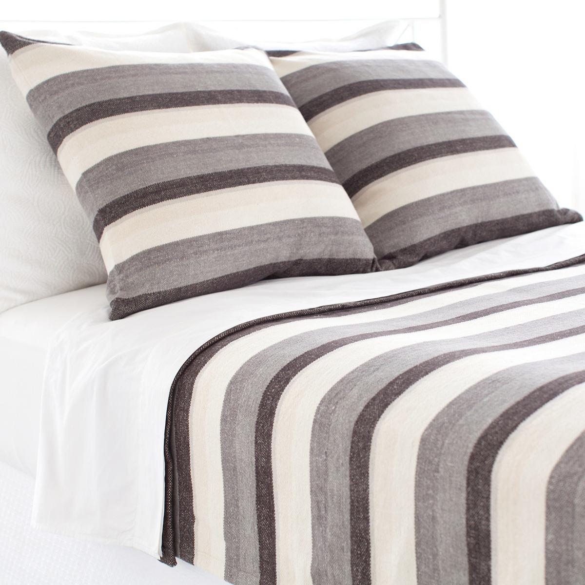 Montego Stripe Grey Chenille Sham