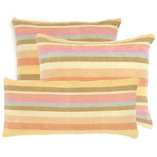 Montego Stripe Melon Chenille Decorative Pillow