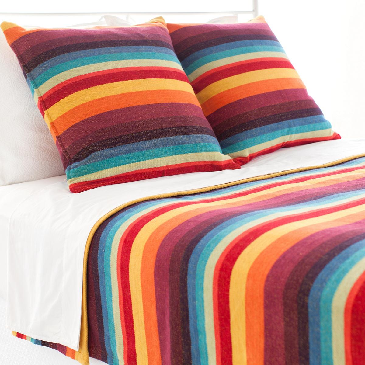 Montego Stripe Multi Chenille Blanket
