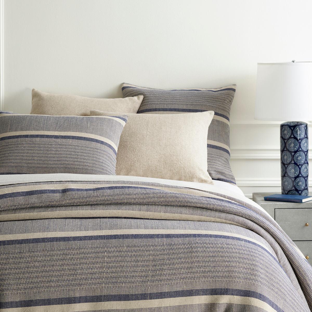 Morocco Linen Indigo Duvet Cover