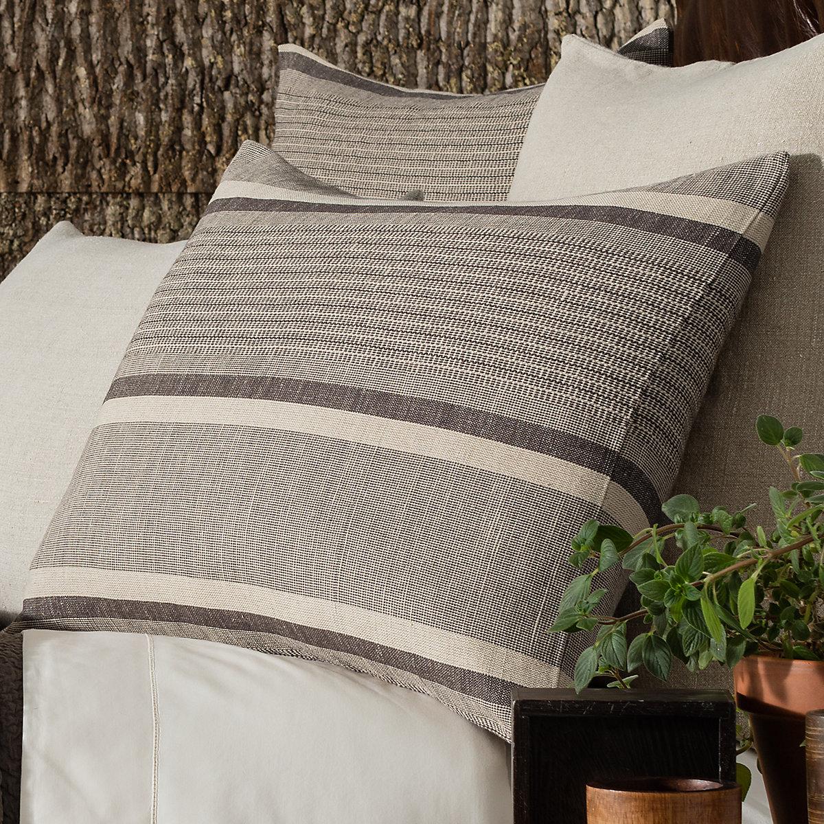 Morocco Linen Java Pillowsham Pine Cone Hill